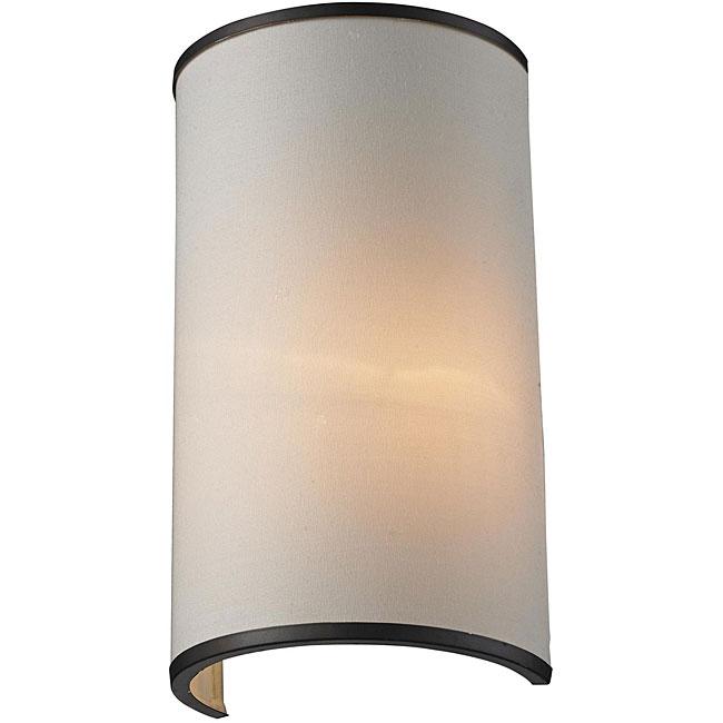 Cameo Bronze/ Creme 1-Light Wall Sconce