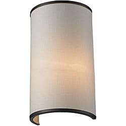 Cameo Bronze/ Creme 1-Light Wall Sconce