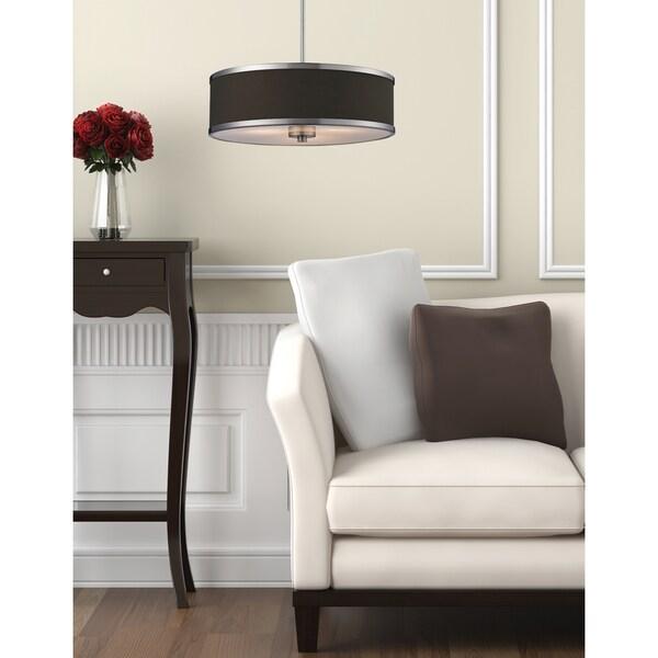 Cameo Three-Light Brushed-Nickel Indoor Pendant