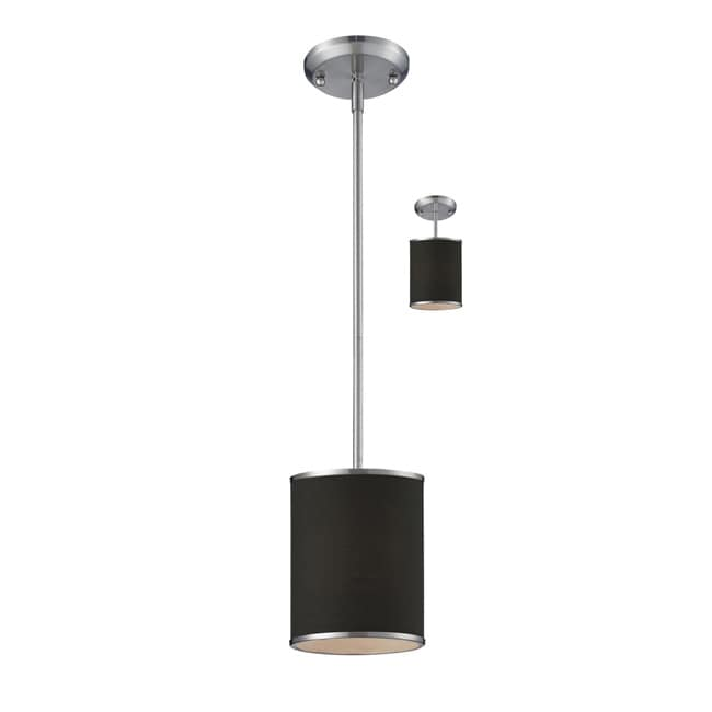 Cameo 1-light Brushed Nickel Pendant