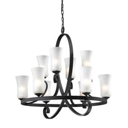 Arshe 10-light Bronze Chandelier