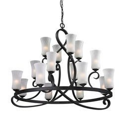 Arshe 16-light Bronze Chandelier