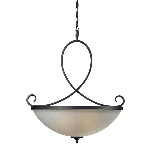 Arshe 3-light Bronze Chandelier