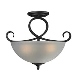Arshe 3-light Bronze Flush Mount