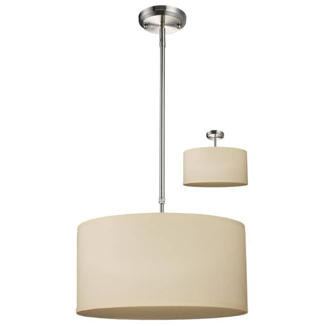Albion 3-light Nickel Pendant