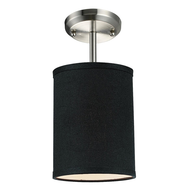 Albion 1-light 6-inch Black/ Silver Fixture