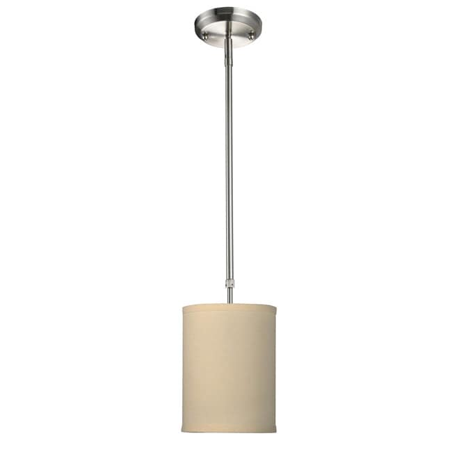 Albion Off White Drum Fabric Shade 6-Inch Lighting Fixture