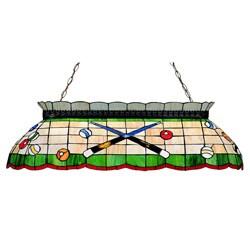 Traditional Tiffamy-style Billiard Lighting Fixture