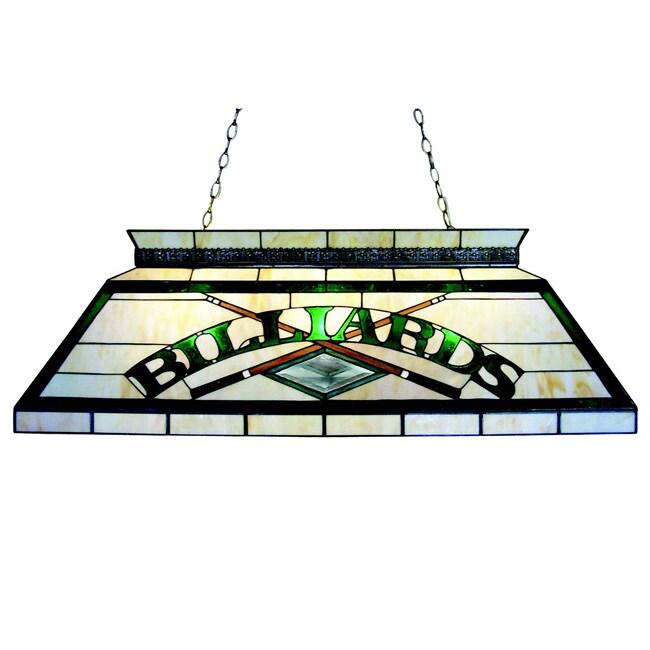 Classic Tiffany-style Billiard Lighting Fixture