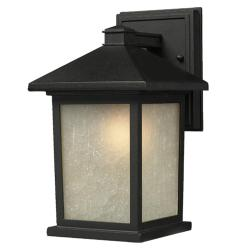 Holbrook 1-light Black Outdoor Wall Light