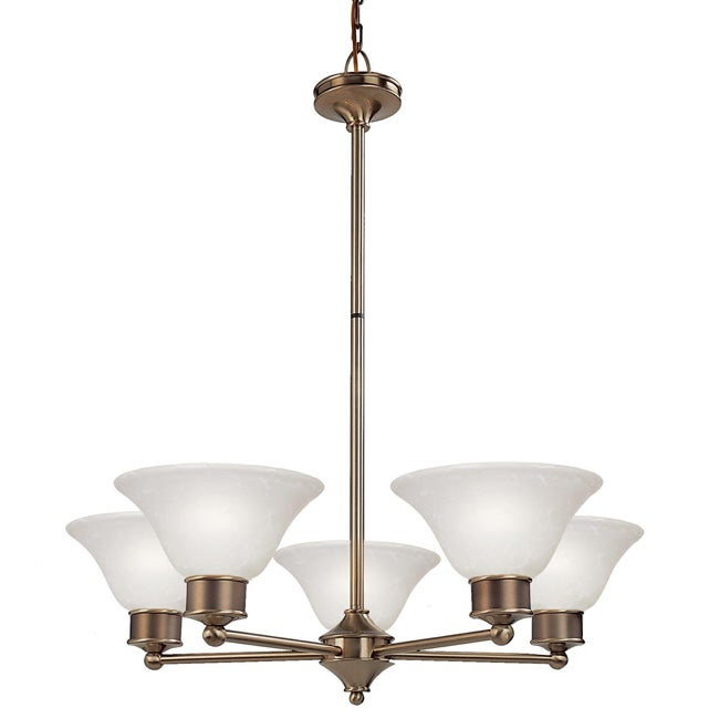 Dynasty Five-Light 60-Watt White Lighting Fixture