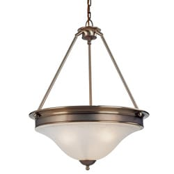 Dynasty Three-Light White Glass Lighting Fixture