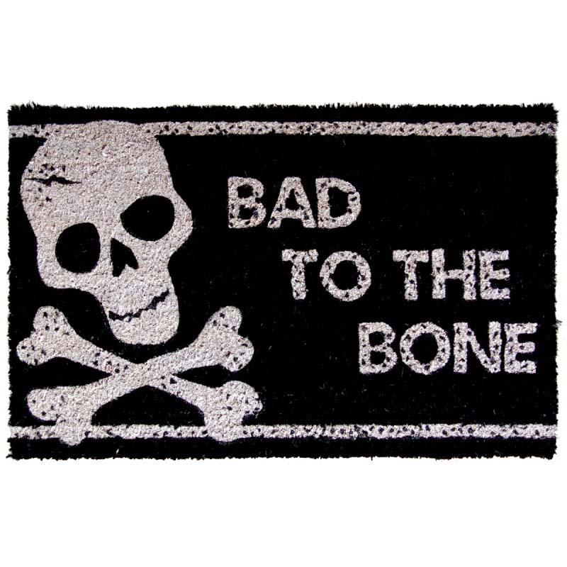 Bad to the Bone Non-slip Doormat