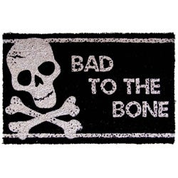 Bad to the Bone Non-slip Doormat