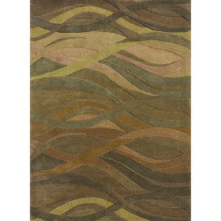 Hand-Tufted Walcott Green Wool Rug (5'0 x 7'6)