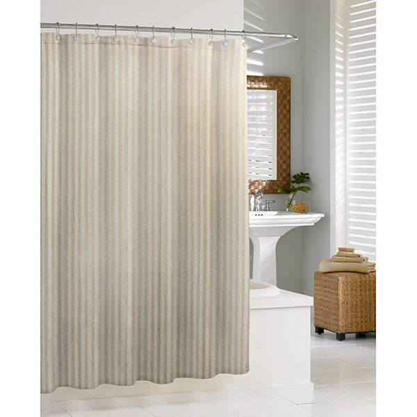 Lino Natural Shower Curtain