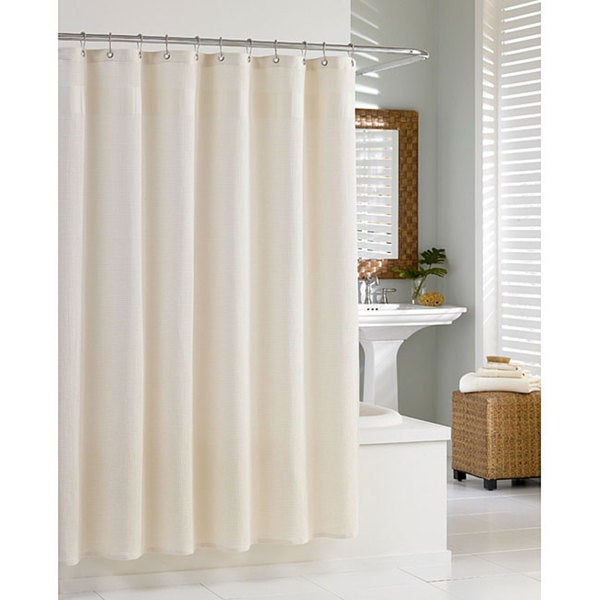 Cotton Waffle Natural Shower Curtain