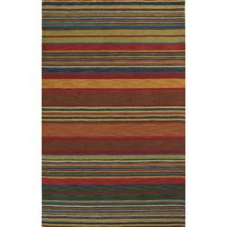 Hand-tufted Stripes Multi Wool Rug (2'2 x 8')