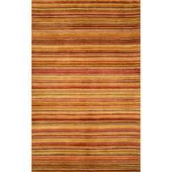 Hand-tufted Stripe Sunset Wool Rug (3'5 x 5'5)