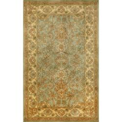 Hand-tufted Issa Blue Wool Rug (8' x 10')