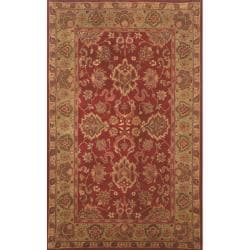 Hand-tufted Mahal Red Wool Rug (2'3 x 8')