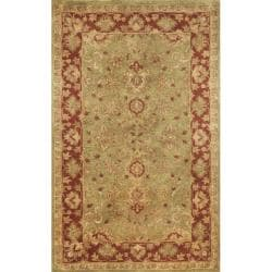 "Traditional Hand-Tufted Issa Green Wool Rug (2'3"" x 8')"