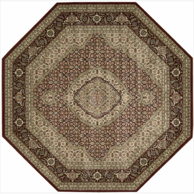 Nourison Persian Arts Burgundy Floral Rug (7'9 x 7'9 Octagon)