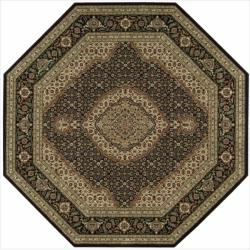 Nourison Persian Arts Black Rug (7'9 x 7'9 Octagon)