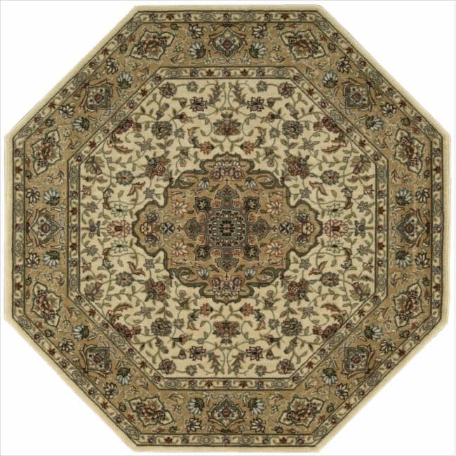 Nourison Persian Arts Ivory Rug (7'9 x 7'9 Octagon)