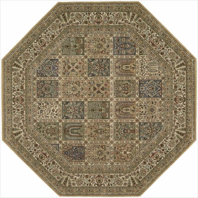 Nourison Persian Arts Beige Rug (7'9 x 7'9 Octagon)