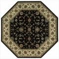 "Nourison Persian Arts Traditional Black Rug (5'3"" x 5'3"" Octagon)"