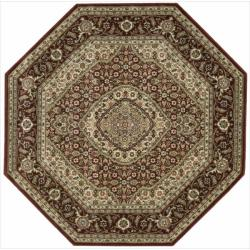 Nourison Persian Arts Burgundy Rug (5'3 x 5'3 Octagon)