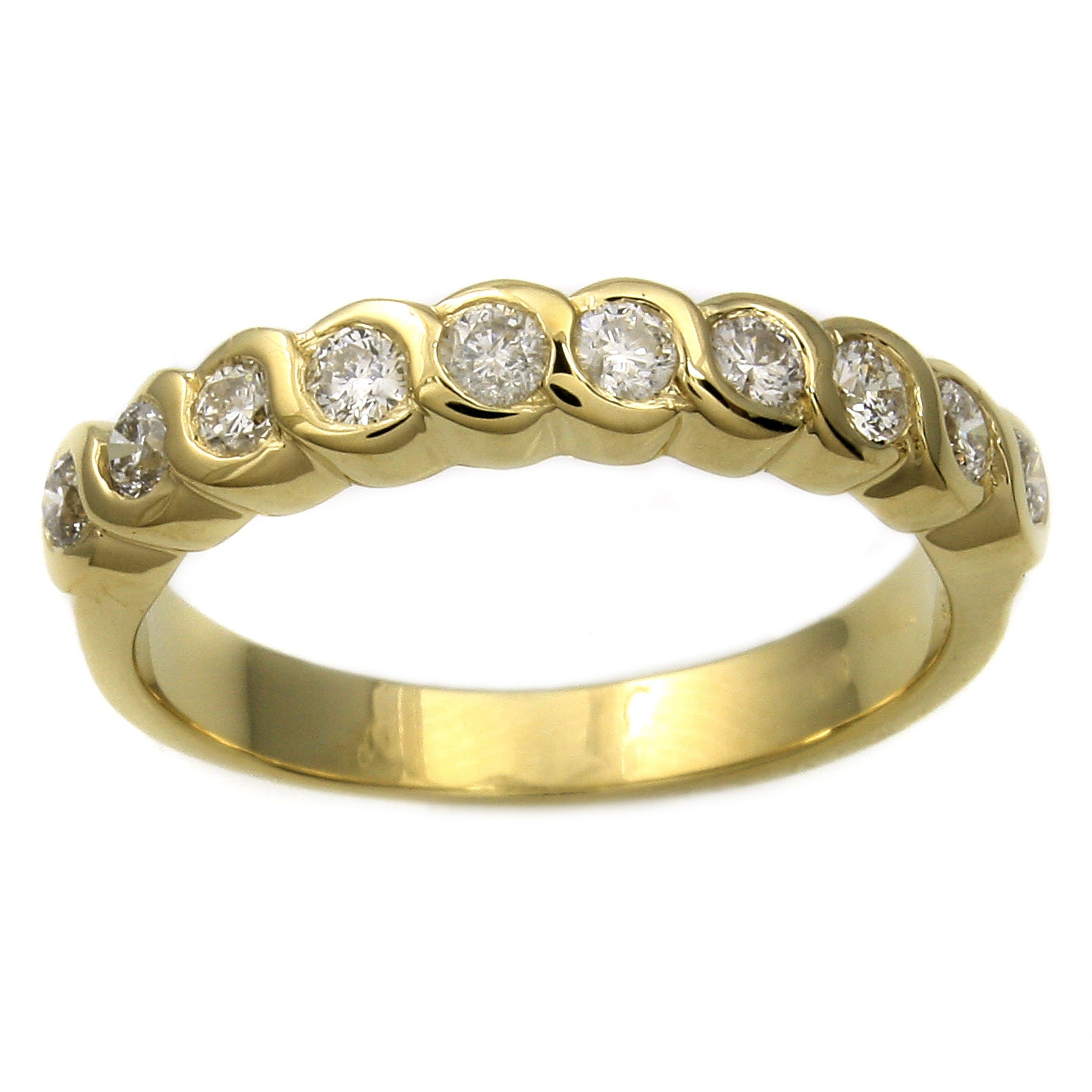 "Beverly Hills Charm 14k Yellow Gold 1/2ct TDW ""S"" Swirl Diamond Ring (H-I, I1)"