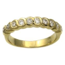 Beverly Hills Charm 14k Yellow Gold 1/2 ct. TDW Diamond Bezel Band Ring (H-I, I1)