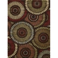 "Fabulous Multicolored Polypropylene Shag Rug (5'3"" x 7'3"")"