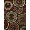 Earth-tone Fabulous Multi Shag Rug (7'10 x 9'10)