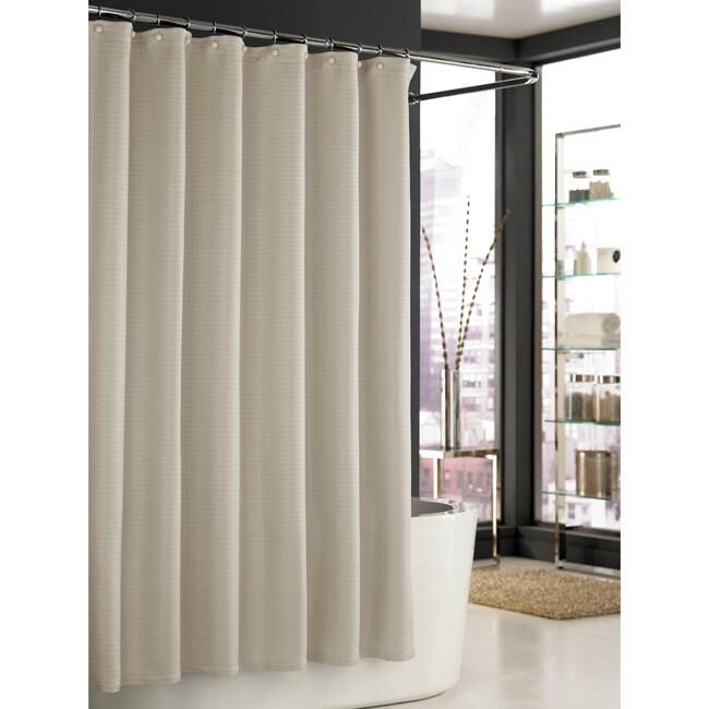 Trump Home Mar-a-Lago Taupe Spa Waffle Shower Curtain
