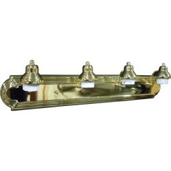 Four Light Polished Brass Vanity