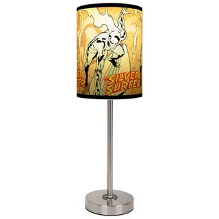 Lamp-In-A-Box Marvel Silver Surfer Close-Up Brushed Nickel Table Lamp