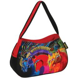 "Medium Hobo Zipper Top 15""X4-1/2""X9""-Wild Horses Of Fire"