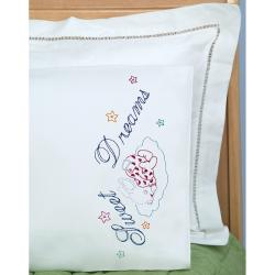 Children's Stamped Pillowcase With White Perle Edge 1/Pkg-Sweet Dreams