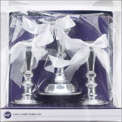 Unity Candle Holder Set 3/Set-Silver