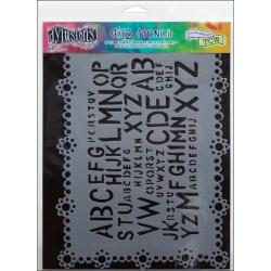 "Dyan Reaveley's Dylusions Stencils 9""X12""-Letter Jumble"