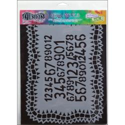 "Dyan Reaveley's Dylusions Stencils 9""X12""-Number Jumble"