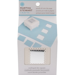 Martha Stewart Punch All Over The Page Punch-Scalloped Dot Square
