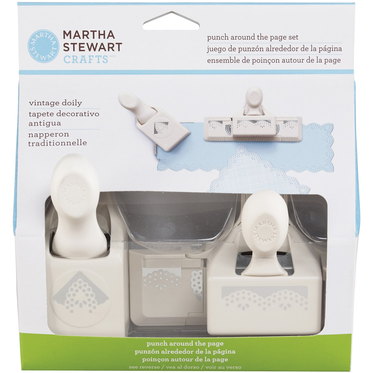 Martha Stewart Punch-Around-The-Page Combo-Vintage Doily