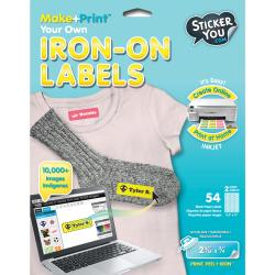 Sticker You Sticker Labels-Iron-On Transfer Labels - 54 labels