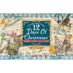 Rubber Stamp Set-12 Days Of Christmas Set 1 Days 1-3