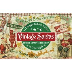 Rubber Stamp Set-Vintage Santas