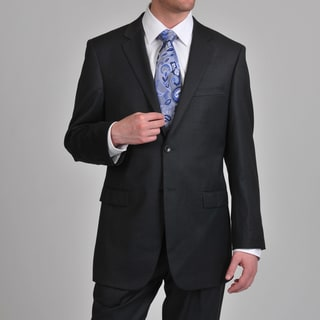 Prontomoda Europa Men's 'Super 140' Charcoal Wool Suit